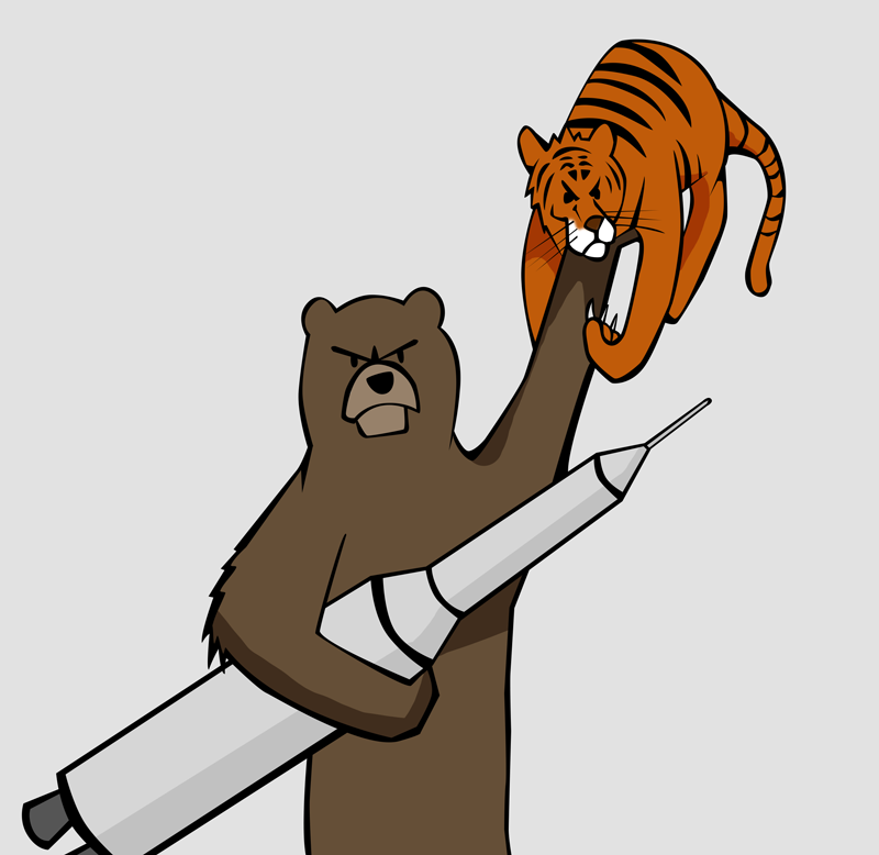 Bear with Missile and Tiger