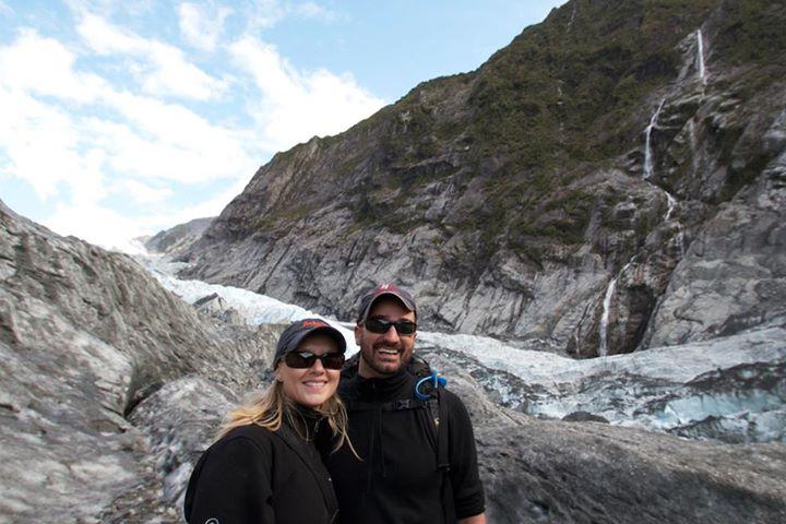 """Valerie & Griffin at Franz Joseph Glacier, New Zeland"""